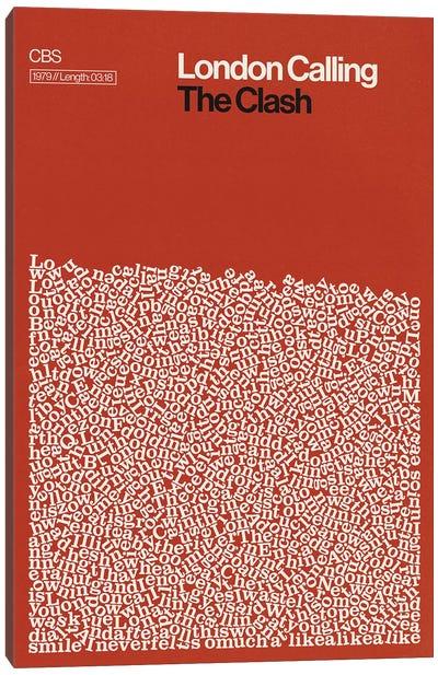 London Calling By The Clash Lyrics Print Canvas Art Print