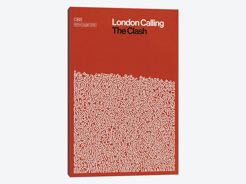 London Calling By The Clash Lyrics Print by Reign & Hail 1-piece Canvas Art