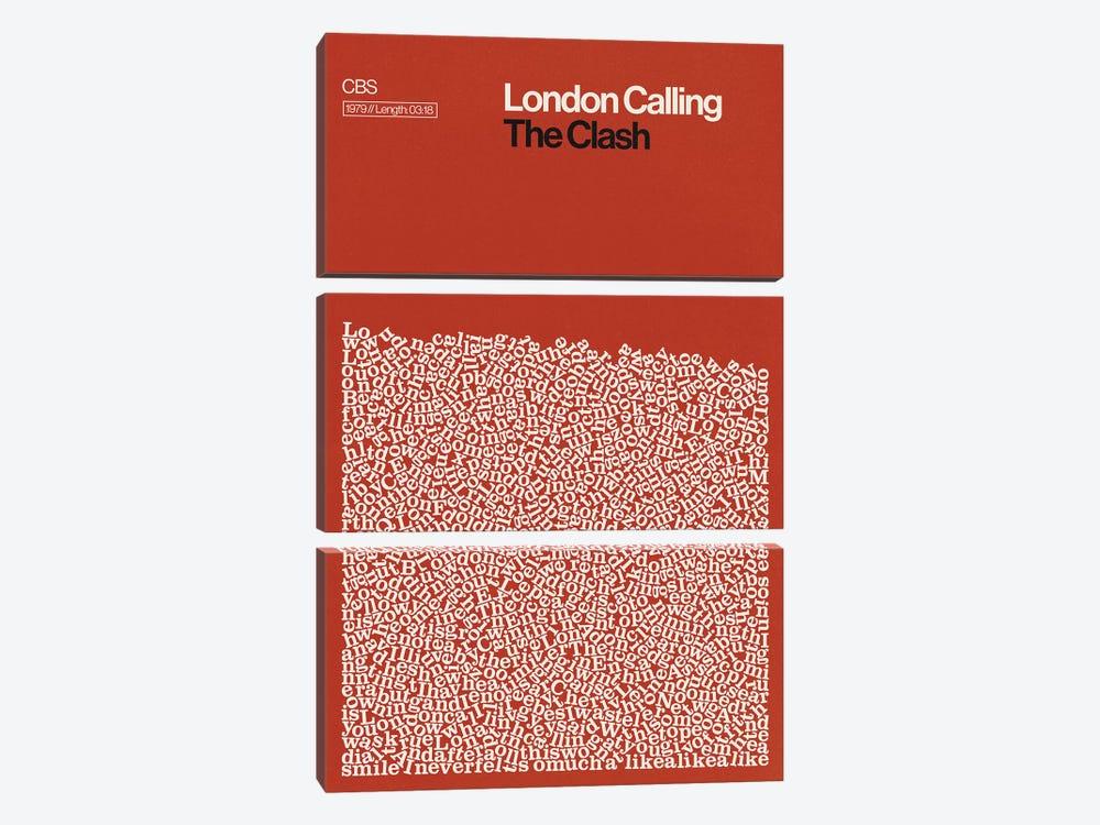 London Calling By The Clash Lyrics Print by Reign & Hail 3-piece Canvas Wall Art