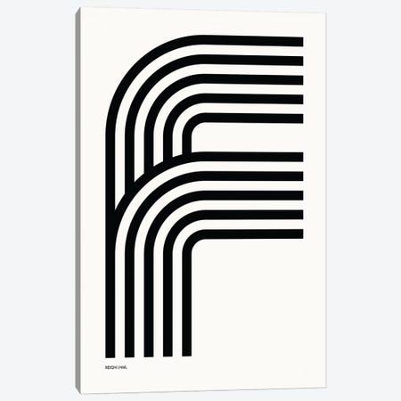 F Geometric Letter Canvas Print #RNH6} by Reign & Hail Canvas Art
