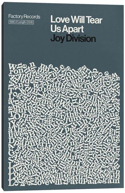 Love Will Tear Us Apart By Joy Division Lyrics Print Canvas Art Print