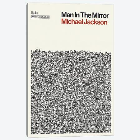 Man In The Mirror By Michael Jackson Lyrics Print Canvas Print #RNH71} by Reign & Hail Canvas Print