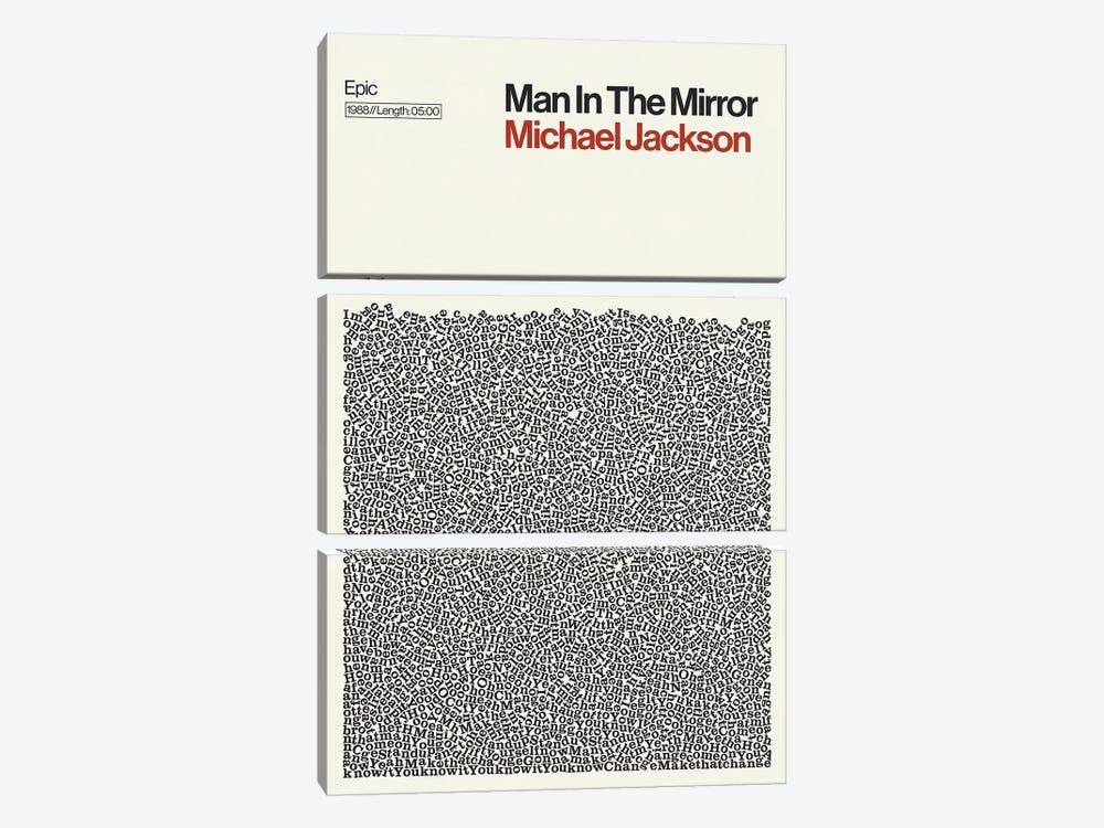 Man In The Mirror By Michael Jackson Lyrics Print by Reign & Hail 3-piece Canvas Print