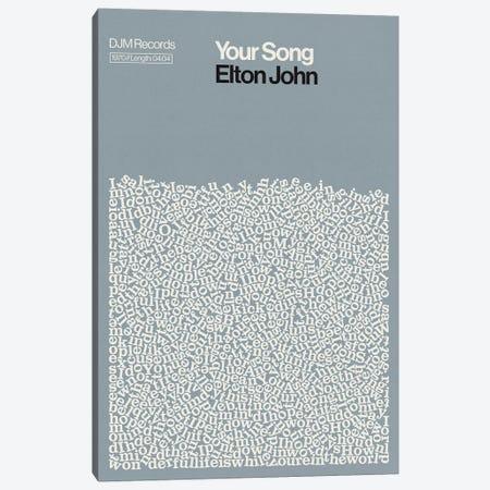 Your Song By Elton John Lyrics Print Canvas Print #RNH79} by Reign & Hail Canvas Art Print