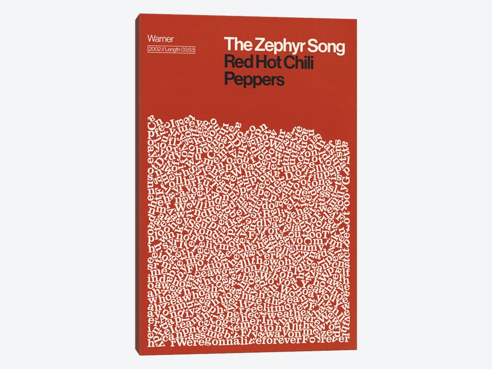 Zephyr Song By Red Hot Chili Peppers Lyrics Print by Reign & Hail 1-piece Art Print