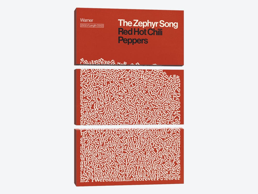 Zephyr Song By Red Hot Chili Peppers Lyrics Print by Reign & Hail 3-piece Art Print