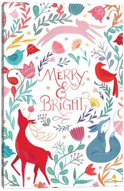 Woodland Merry & Bright Canvas Art Print
