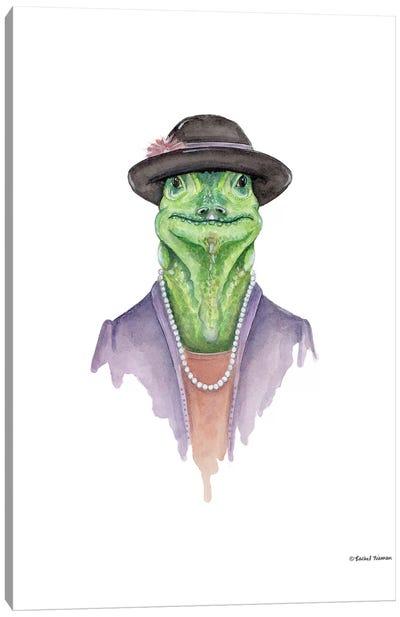 Iguana In Sunday Best Canvas Art Print