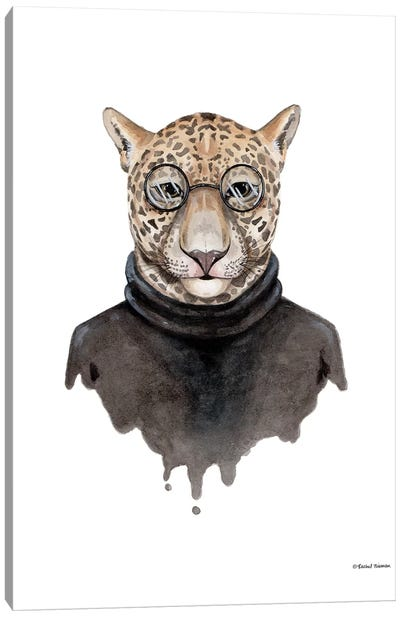 Jaguar As Steve Jobs Canvas Art Print