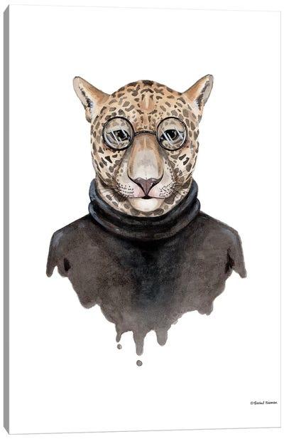 Jaguar As Steve Jobs Canvas Art Print