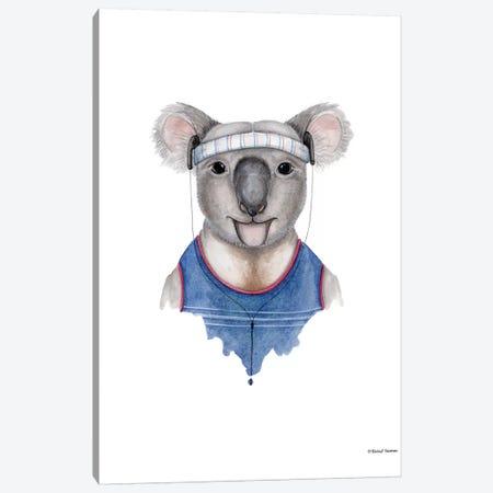 Kewl Koala Canvas Print #RNI14} by Rachel Nieman Art Print
