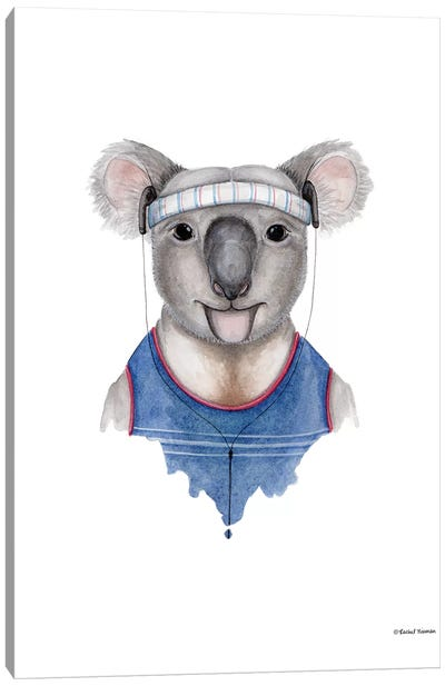 Kewl Koala Canvas Art Print