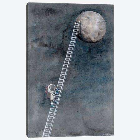 Ladder To The Moon Canvas Print #RNI15} by Rachel Nieman Canvas Art Print