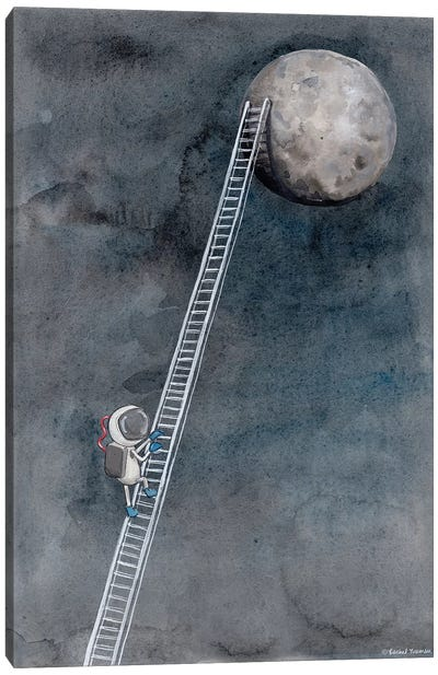 Ladder To The Moon Canvas Art Print