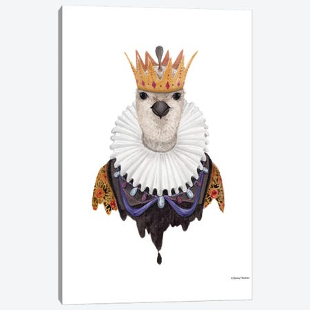 Quail Queen Canvas Print #RNI21} by Rachel Nieman Art Print