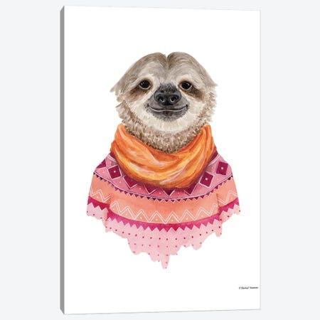 Sloth In A Sweater Canvas Print #RNI23} by Rachel Nieman Canvas Print