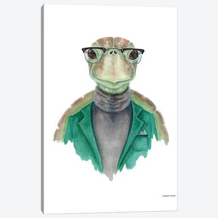 Turtle In A Turtleneck Canvas Print #RNI24} by Rachel Nieman Canvas Wall Art