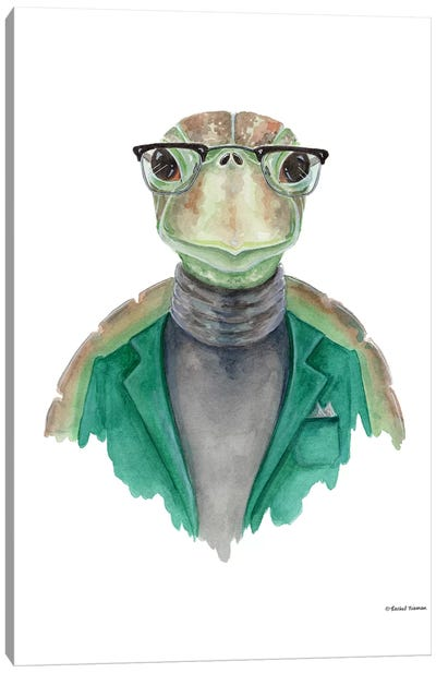 Turtle In A Turtleneck Canvas Art Print