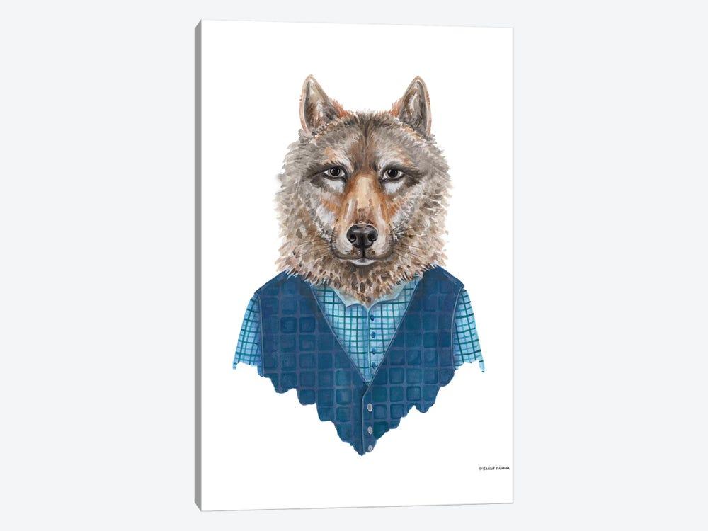 Wolf In Waistcoat by Rachel Nieman 1-piece Canvas Art Print