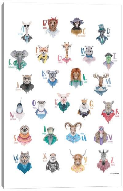 Animal Alphabet Poster Canvas Art Print