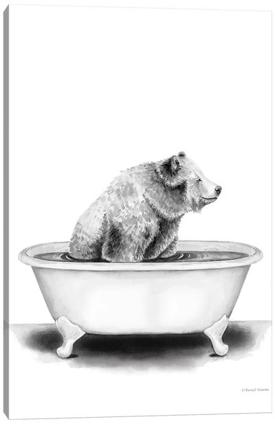 Bear in Tub Canvas Art Print