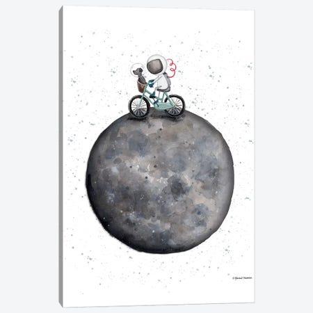 Bike on Moon Canvas Print #RNI33} by Rachel Nieman Canvas Art