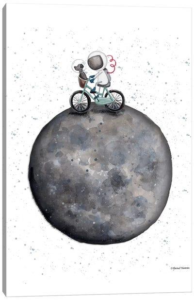 Bike on Moon Canvas Art Print