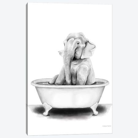 Elephant in Tub Canvas Print #RNI36} by Rachel Nieman Canvas Art Print