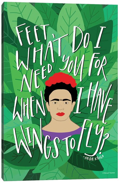 Frida - Wings to Fly Canvas Art Print