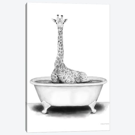 Giraffe in Tub Canvas Print #RNI38} by Rachel Nieman Canvas Wall Art