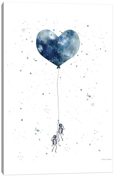 Heart on Balloon Canvas Art Print