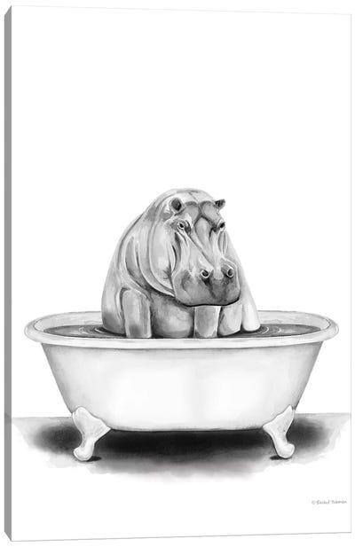 Hippo in Tub Canvas Art Print