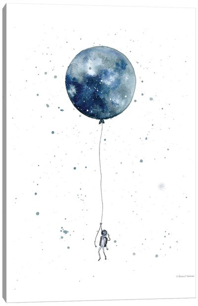 Moon Balloon Canvas Art Print