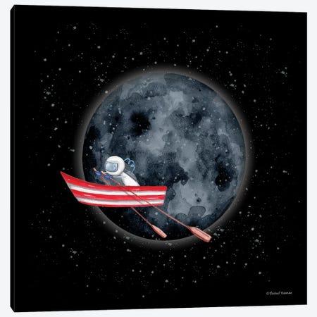 Sail to the Moon Canvas Print #RNI43} by Rachel Nieman Canvas Art Print