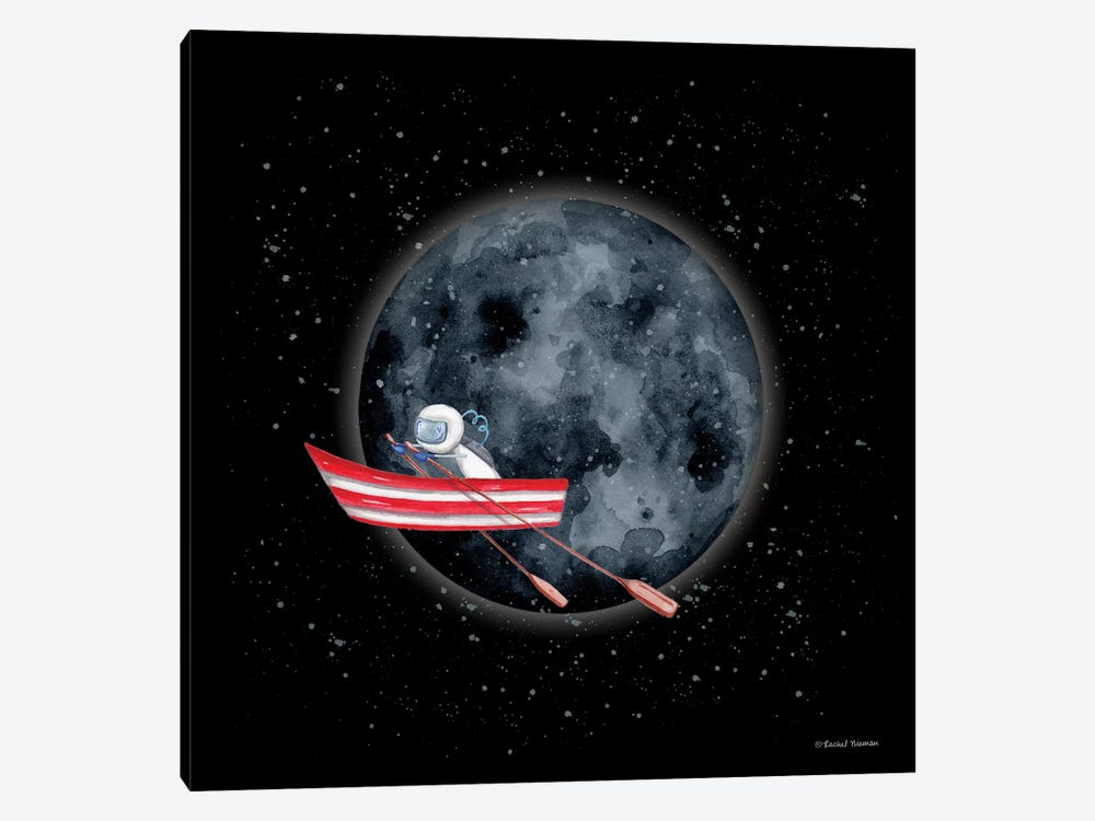 Sail to the Moon by Rachel Nieman 1-piece Canvas Art Print