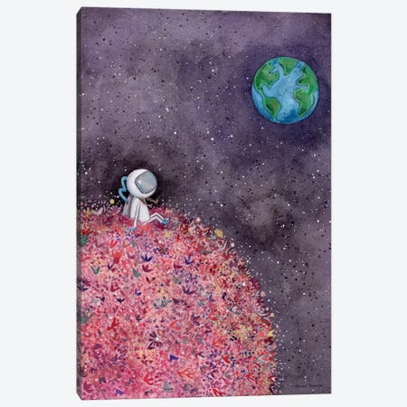 Sitting on a Flower Moon Canvas Print #RNI44} by Rachel Nieman Canvas Artwork