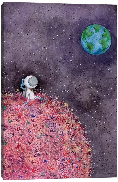 Sitting on a Flower Moon Canvas Art Print