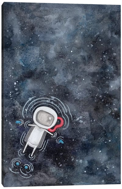 Swim in Space Canvas Art Print