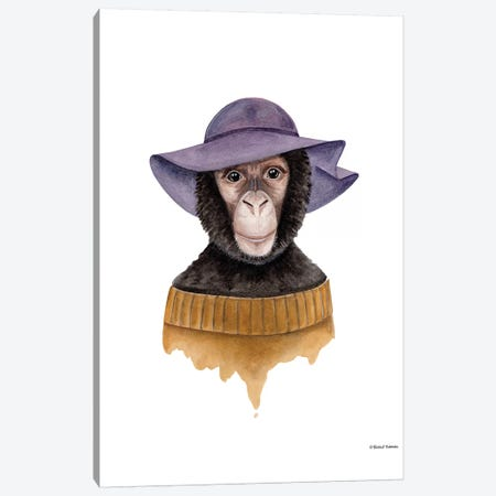 Cozy Chimp Canvas Print #RNI4} by Rachel Nieman Canvas Art Print