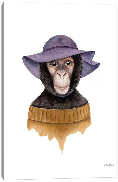Cozy Chimp Canvas Art Print