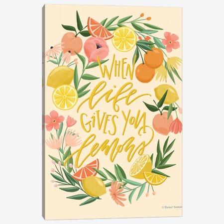 When Life Gives You Lemons Canvas Print #RNI50} by Rachel Nieman Canvas Artwork
