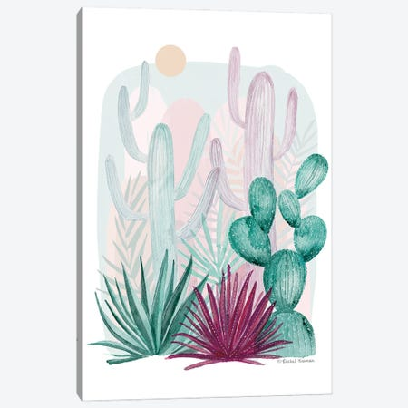Cactus Summer Canvas Print #RNI51} by Rachel Nieman Canvas Wall Art
