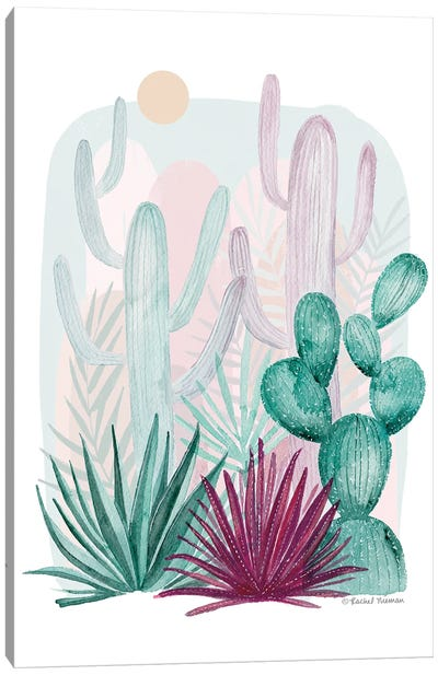 Cactus Summer Canvas Art Print