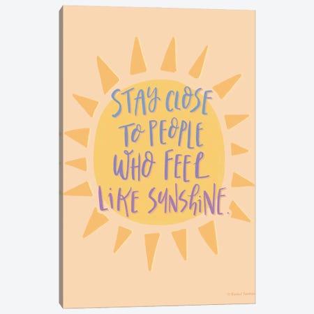 Feel Like Sunshine Canvas Print #RNI52} by Rachel Nieman Canvas Wall Art
