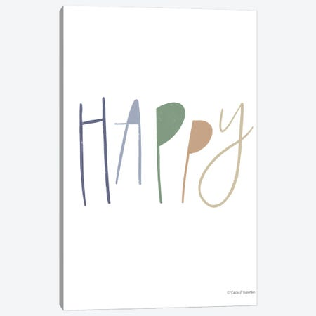 Happy 3-Piece Canvas #RNI53} by Rachel Nieman Canvas Artwork