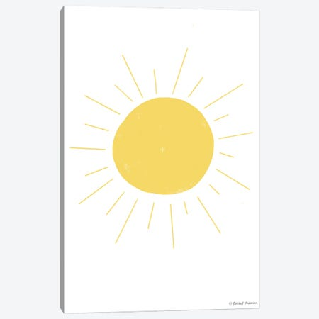 Happy Sun Canvas Print #RNI55} by Rachel Nieman Canvas Art Print