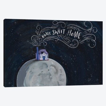 Home Sweet Home Canvas Print #RNI56} by Rachel Nieman Art Print