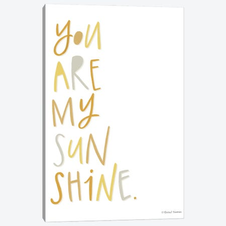 You Are My Sunshine 3-Piece Canvas #RNI57} by Rachel Nieman Art Print
