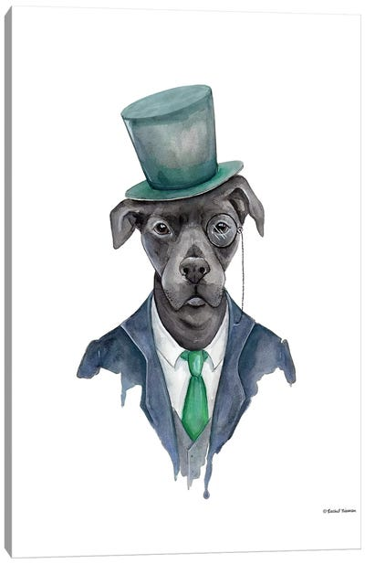 Dapper Dog Canvas Art Print