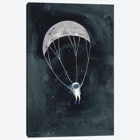 Parachute Moon Canvas Print #RNI64} by Rachel Nieman Canvas Artwork